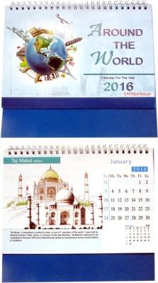 Gathbandhan AROUND THE WORLD(PACK OF 6) 2016 Solar Calendar