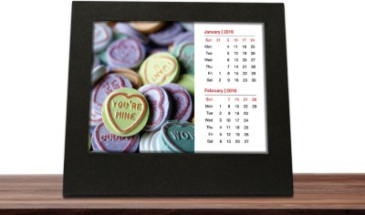 Print Haat Calendar Photo Frame 2016 Table Calendar