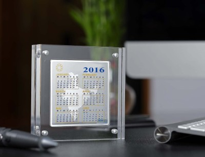 Bherumal Shamandas 999 Silver 2016 Calendar (Limited Edition) 2016 Table Calendar