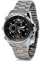 Autosity Secrete Detective Silver HD Camera Watch Spy Product Camcorder(Silver)