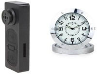 SPYCLOUD Secrete Detective S918-SteelTable-Clock Clock Spy Product Camcorder(Multicolor)