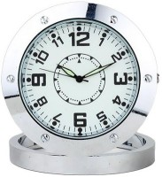 Autosity Detective Survilliance Round-Steel-Table-Clock Spy Camera Product Camcorder(Silver)