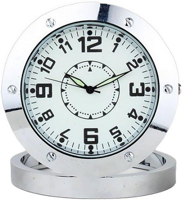 View Autosity Detective Survilliance Round-Steel-Table-Clock Spy Camera Product Camcorder(Silver) Camera Price Online(Autosity)