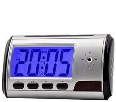 Autosity Secrete Detective Silver Multi Funtion Digital Spy Clock Camcorder(Silver)