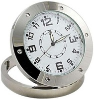 Autosity Detective Security Silver HD Camera Clock Spy Product Camcorder(Silver)