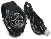 SPYCLOUD Secrete Detective Black Leather Spy Watch Camcorder(Black)