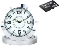 SPYCLOUD Secrete Detective HD-Steelclock-16gb-DVR Clock Spy Product Camcorder(Silver)