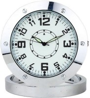 SPYCLOUD Secrete Detective Camera Based Round-Steel-Table-Clock Clock Spy Product Camcorder(Silver)