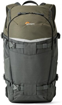 Lowepro Flipside Trek BP 350 AW  Camera Bag(Grey, Green) at flipkart