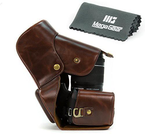 MegaGear ''Ever Ready'' Dark Brown DSLR Camera Case for Canon EOS Rebel T3i 18-55mm IS 18-135mm IS /Canon 600D 18-55mm 18-135mm IS Camera Bag(Brown) Image