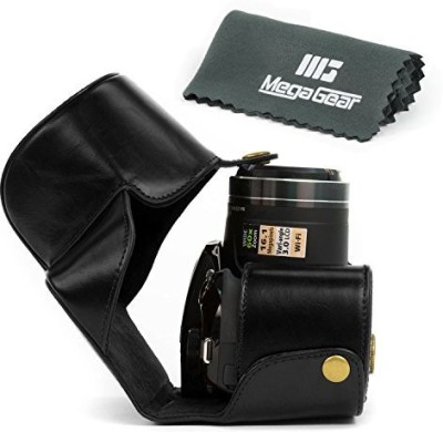 MegaGear-Ever-Ready-Protective-Black-Leather-Camera-Case,-Bag-for-Nikon-COOLPIX-P520,-Nikon-COOLPIX-P530,-Nikon-COOLPIX-P610-Digital-Camera--Camera-Bag(Black)