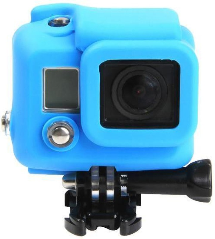 Tuzech Silicone Case for Hero Models  Camera Bag(Blue)