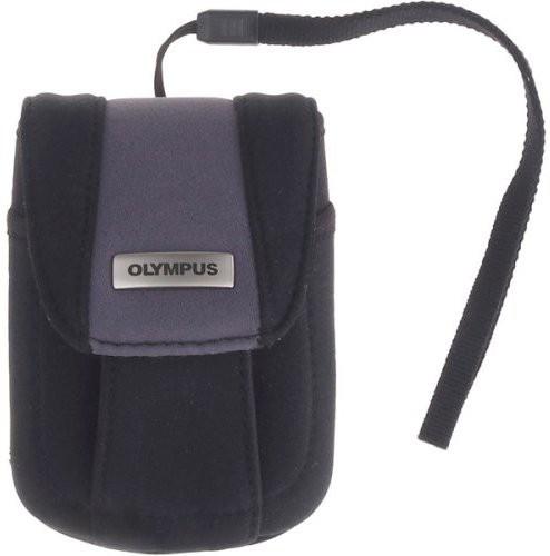 Olympus Neoprene Soft Digital Camera Case Camera Bag(Black, Blue) Image