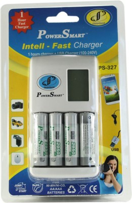 Power Smart 1 Hour fast Battery Charger having USB Port With 4 AA Batteries (2950mAh) Camera Battery Charger