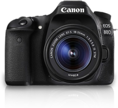 Canon EOS 80D Body with 18-55 IS STM DSLR Camera(Black)