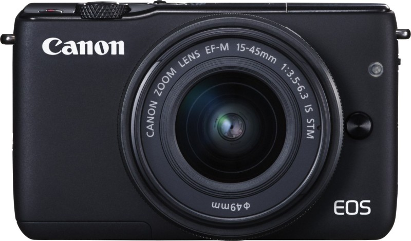 Canon EOS M10 with EF-M15-45 mm f/3.5 - 6.3 IS STM Mirrorless Camera(Black)