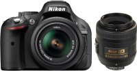 Nikon D5200 (Body with AF-S 18 - 55 mm VR Kit   AF-S DX NIKKOR 35 mm f 1.8G) DSLR Camera(Black)