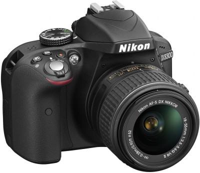 Nikon D3300 (Body with AF-S DX NIKKOR 18 - 55 mm F3.5 - 4.6 VR II Kit Lens) DSLR Camera(Black)