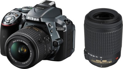 Nikon D5300 with (D-Zoom Kit II Body with AF-P DX NIKKOR 18-55 mm F/3.5-5.6G VR + AF-S DX NIKKOR 55-200 mm F/4-5.6G ED VR II) DSLR Camera