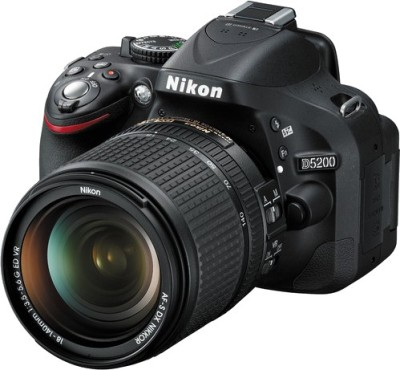 Nikon D5200 with (18 - 140 mm VR DX Lens) DSLR Camera(Black)