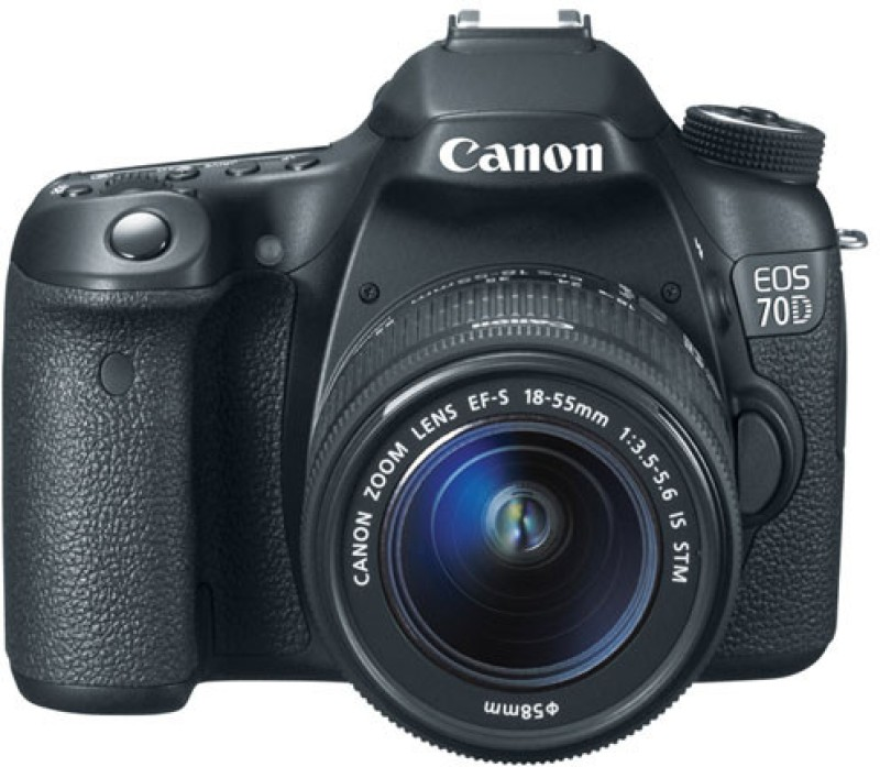 canon eos 70d camera black with 18-55 f/3.5-5.6 i.s stm lens brand new sealed