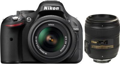Nikon D5200 (Body with AF-S 18 - 55 mm VR Kit + AF-S NIKKOR 50 mm F/1.8G Le) DSLR Camera
