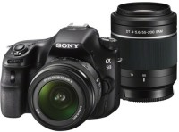 Sony Alpha SLT-A58Y DSLR Camera (Body with DT 18 - 55 mm F3.5 - 5.6 SAM II and DT 55 - 200 mm F4 - 5.6 SAM)(Black)