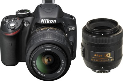 Nikon D3200 (Body with AF-S 18 - 55mm VR Kit + AF-S DX NIKKOR 35 mm f/1.8G) DSLR Camera