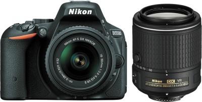 Nikon D5500 (Body with 18 - 55 + 55 - 200 Lens) DSLR Camera