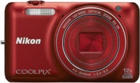 Nikon S 6600 Point & Shoot Camera(Red)
