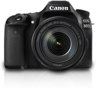 Canon EOS 80D Body with 18-135 IS USM DSLR Camera(Black)