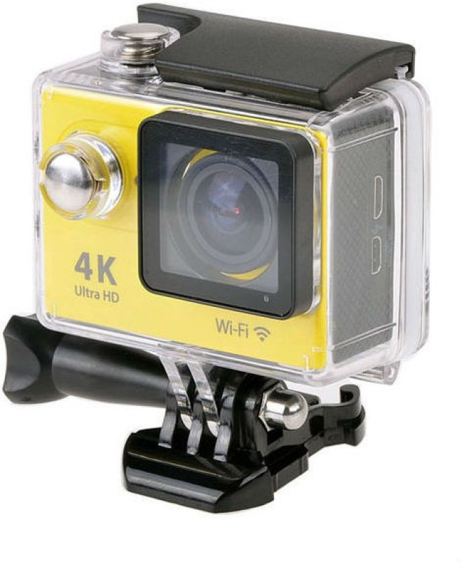 Shrih Ultra HD 4K WIFI Dual Screen Waterproof Body Only Sports & Action Camera(Yellow)