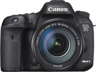Canon EOS 7D Mark II (Kit with EF-S18-135 mm f3.5-5.6 IS STM) DSLR Camera(Black)