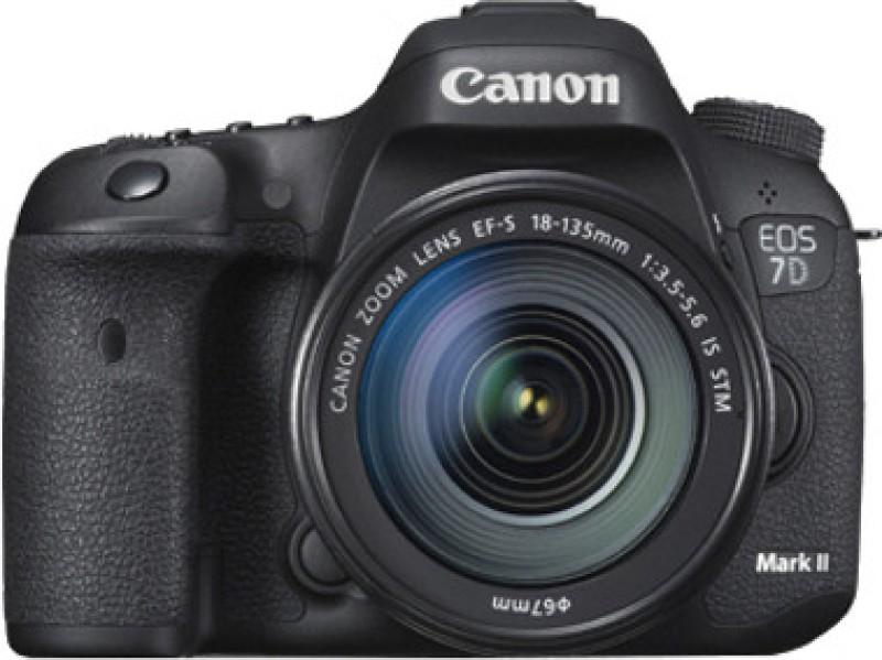 canon eos 7d digital camera 18-135mm lens 16 gb 133x cf card carrying case