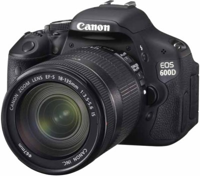 Canon EOS 600D (Body with EF-S 18-135 mm IS II Lens) (Body with EF-S 18-135 mm IS II Lens) DSLR Camera(Black)