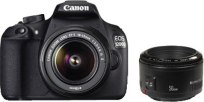 Canon EOS 1200D (Dual Kit EF S18 - 55 mm IS II and EF 50 mm f/1.8 II) DSLR Camera(Black)