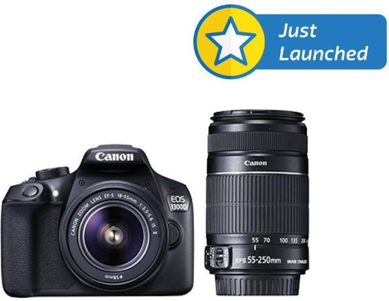 canon eos 1300d ef-s 18 - 55 mm is ii   ef-s 55 - 250 mm f4 5.6 is dslr camera