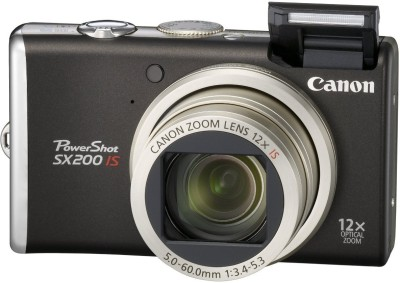 Canon SX200 Metal Body Advanced Point & Shoot Camera(Black)