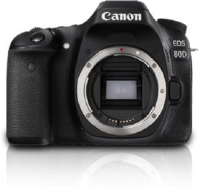 Canon EOS 80D(W) Body DSLR Camera(Black)