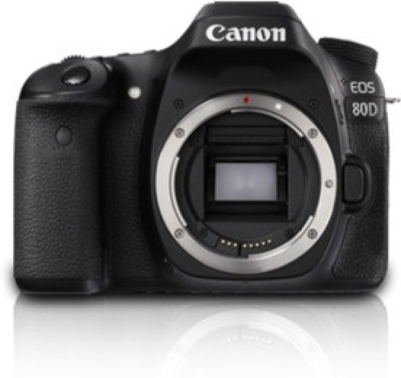 Canon EOS 80D(W) DSLR Camera (Body only)(Black)