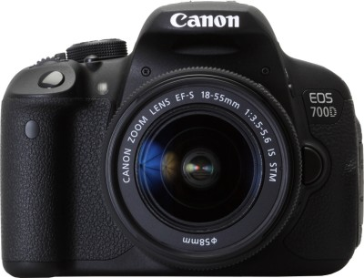 Canon EOS 700D (Body with EF-S 18-55 STM Lens) DSLR Camera(Black)