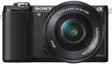 Sony ILCE-5000L with SELP1650 Lens Mirrorless Camera (Black)