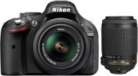 Nikon D5200 DSLR Camera (Body with AF-S 18 - 55 mm VR II   AF-S 55 - 200 mm ED VR II Kit Lens)(Black)