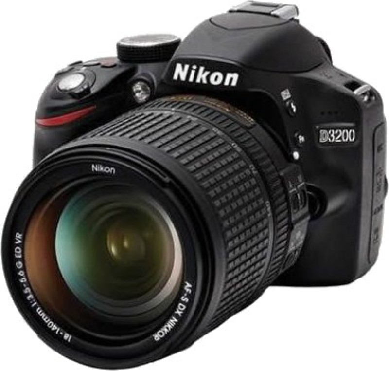nikon d3200 dslr camera 18-140 vr lens kit 24.1 megapixels 8-gb brand new sealed