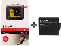 SJCAM Sjcam4000Sj_8 Sjcamj4000WifiYellow_1Battery Sports & Action Camera(Yellow)