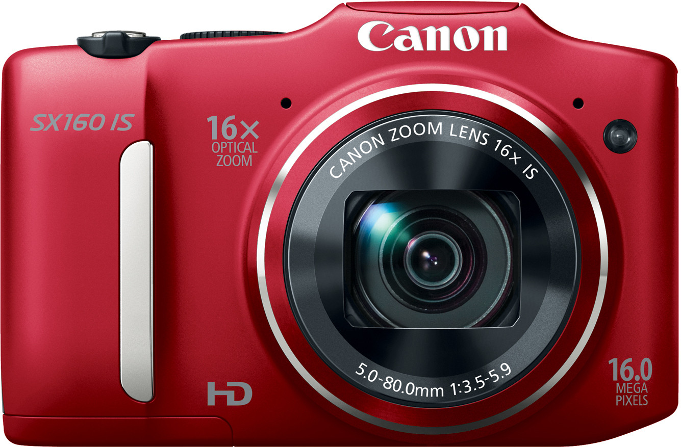 Canon SX160 IS Point & Shoot Camera(Red)