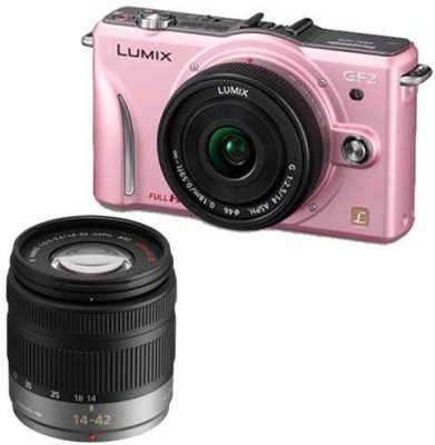 Panasonic Powershot Lumix DMC GF2W Digital Camera DSLR Camera available at Flipkart for Rs.29999