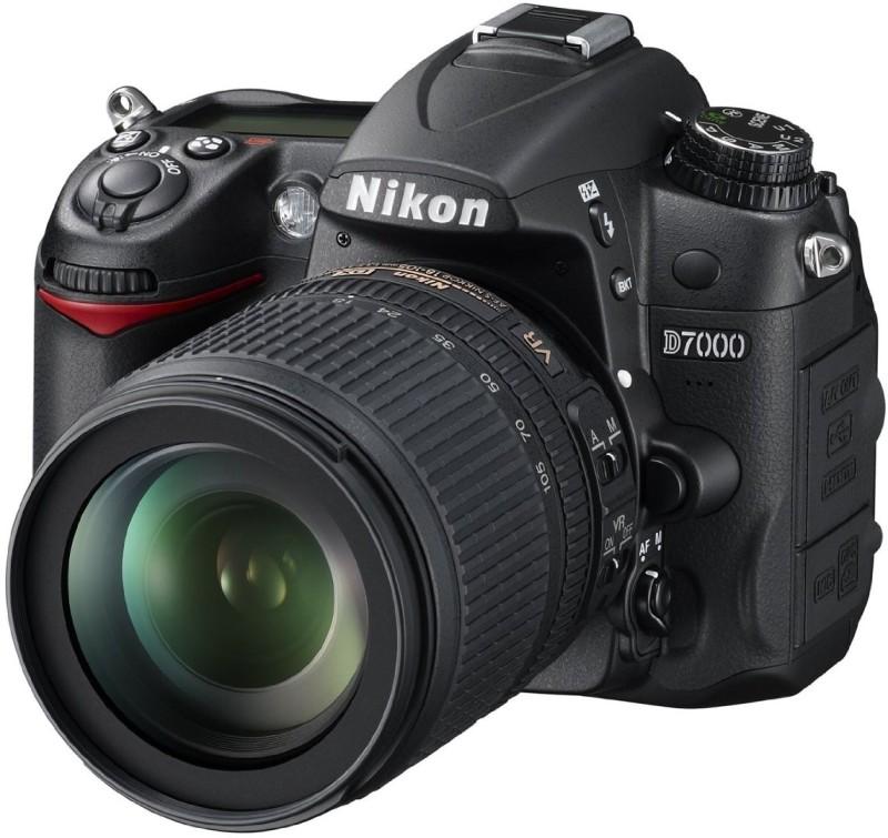 nikon d-7000 dslr camera body with  nikon 18-105 af-s dx vr lens,carrying case