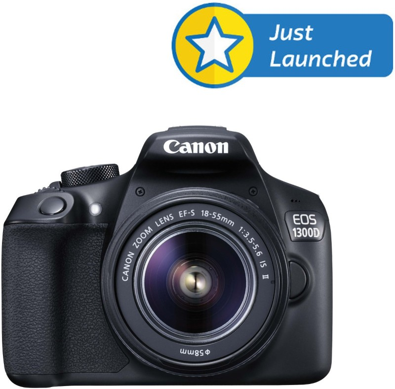canon eos 1300d (ef-s18-55 is ii)  dslr camera with wifi & free 16gb card, case