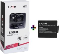 Sjcam SJCAMSJ5000XWIFIBLACK+1Battery SJCAMSJ5000WIFIBLACK_1Battery Sports & Action Camera(Black)